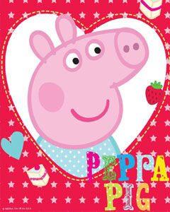 декор для праздника свинка пеппа одноразовая посуда