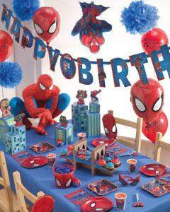 декор для украшения праздника одноразовая посуда человек паук