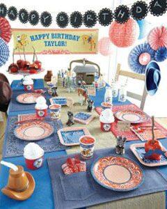 ковбойская вечеринка декор для праздника одноразовая посуда