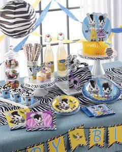 праздник в стиле зебра зу однорзовая посуда праздничный декор