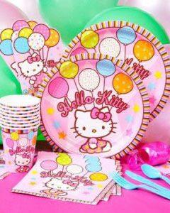 праздник в стиле хэллоу китти одноразовая посуда праздничный декор