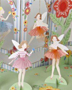 праздник в стиле цветочные феи одноразовая посуда праздничный декор