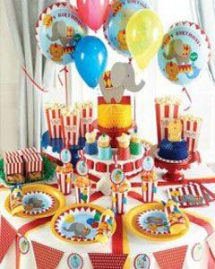 праздник в стиле цирк одноразовая посуда праздничный декор