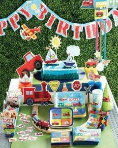 праздник для малышей транспорт одноразовая посуда праздничный декор