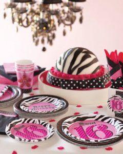 праздничный декор для праздника подростка одноразовая посуда