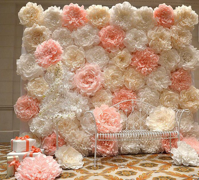 Как сделать стену из цветов на свадьбу своими руками 74