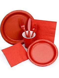 Red-Tableware
