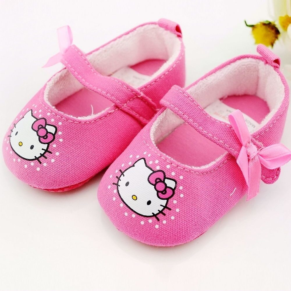 Soft-sole-baby-toddler-shoes-hello-kitty-free-shipping-2-colors-3-sizes