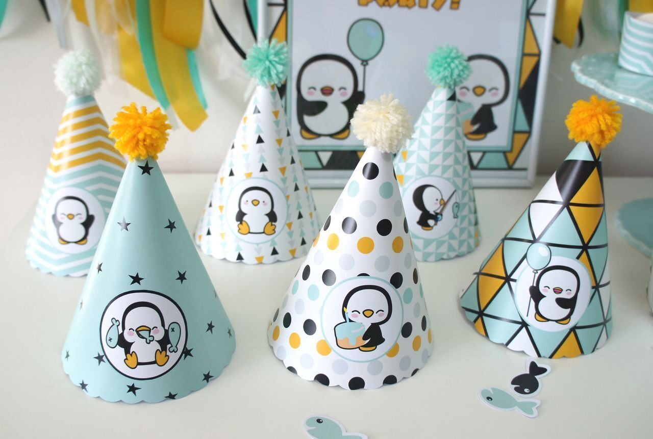 Разноцветные праздничные колпачки для детского дня рождения своими руками