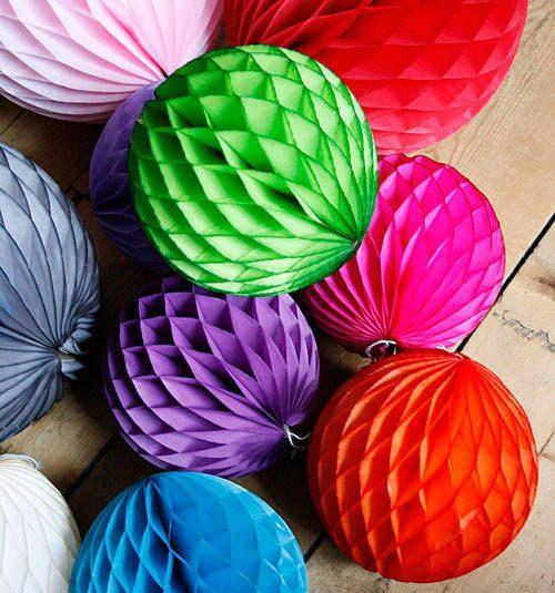 Как сделать бумажные шары