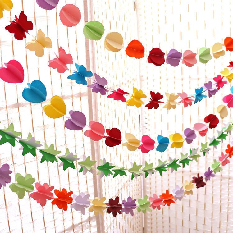 Paper-Garland-Circle-Star-Heart-Butterfly-Flower-Wedding-Bunting-Banner-Party-Decorations-Wedding-Garland-Hanging-Decoration