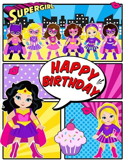 плакат супергерои девочки