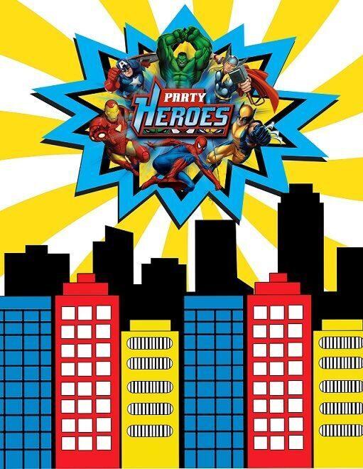 плакат супергерои купить