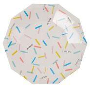 """Тарелки одноразовые бумажные """"Разноцветное конфетти"""", 18 см Meri Meri"""