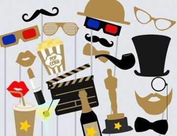 Movie-Photo-booth-Props-Hollywood-Star-Photo-booth-Party-Props-Birthday-Party-Props-Theatre-Party-PhotoBooth-Props