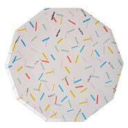 """Тарелки одноразовые бумажные """"Разноцветное конфетти"""", 23 см Meri Meri"""
