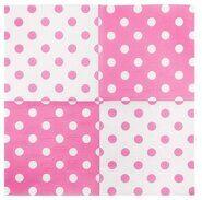 Салфетки бумажные розовые в горошек