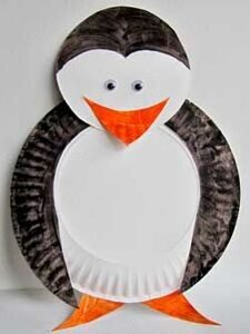 Kids-crafts-Paper-Plate-Penguin