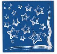 Салфетки праздничные бумажные Синие звезды, 33 см