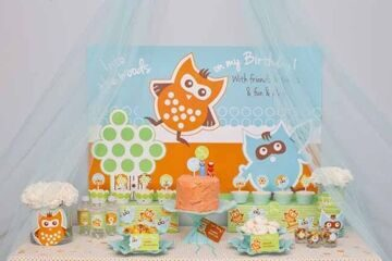 woodland-owl-boys-first-birthday-dessert-table-overall