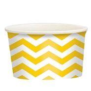 Стаканы для мороженого и сладостей бумажные Желтые Зигзаг