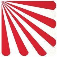Салфетки праздничные бумажные Красная полоска, 25 см, 16 шт