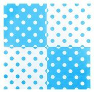 Салфетки бумажные голубые в горошек