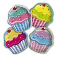 """Тарелки фигурные """"Капкейки (пироженки)"""" для вечеринки """"Сладкий Праздник"""", 20 см, 8 шт"""