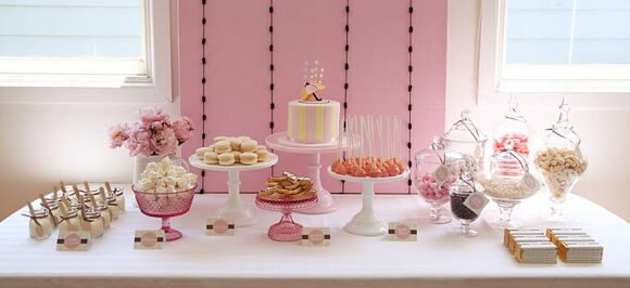vintage_umbrella_baby_shower_pink_yellow_decorations_dessert_table_ideas