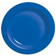 Тарелки бумажные одноразовые Marine Blue 17 см 8 штук