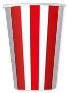 Стаканы бумажные одноразовые Красная полоска, 6 шт