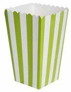 Коробочки для попкорна и сладостей Салатовая (зеленая) полоска (поп корн), 2 шт