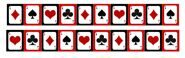 """Гирлянда """"Игральные карты (Покер)"""" для вечеринки """"Казино Роял"""", 20 вымпелов"""