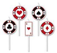 """Свечи """"Покер"""" для вечеринки """"Казино Роял"""""""