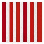 Салфетки праздничные бумажные Красная полоска, 33 см, 16 шт